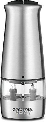 Gourmia GSP9415 Electric stainless steel Salt and Pepper Mill and Grinder