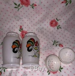 HTF Bartlett-Collins Proud Rooster Salt and Pepper Shakers