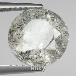 HUGE! 4.09cts 9.8mm Gray Natural Salt & Pepper Loose Diamond SEE VIDEO