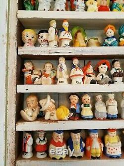 HUGE Vtg Lot of Salt Pepper SHAKERS People, Boy, Girl Japan & Germany 86 Sets