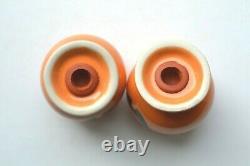 Happy Pumpkin Tangerine Fiesta Bulb Salt & Pepper Shaker Set Nib Nwt