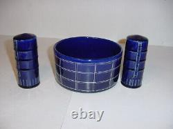 Hard To Find A. O. Smith Harvestore Slurrystore Bowl & Salt & Pepper Shakers