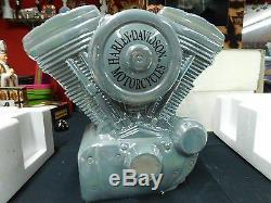 Harley Davidson Cookie Jar Twin Engine Motor Vandor WITH SALT AND PEPPER SHAKER