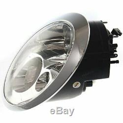 Headlight Set For 2002 2003 2004 Mini Cooper Left and Right With Bulb 2Pc