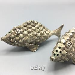 Hector Aguilar Sterling Silver Fish Salt & Pepper Shakers Tane