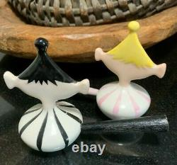 Holt Howard Winking Pixie Figurine Salt and Pepper Shakers with Stick Handles