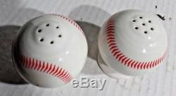 Homer Laughlin Fiesta HLCCA Exclusive Baseball Ball Salt and Pepper Shakers NIB