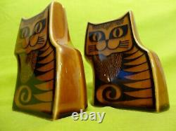 Hornsea Pottery Salt And Pepper Cats Cruet Set John Clappinson Design 1960 1970