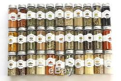 House of Spice 33pcs Ultimate Organic Spices Starter Gift Set with assorted wh