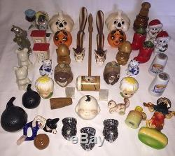 Huge Estate Sale Salt & Pepper Shaker Lot Vintage Anthropomorphic Unique