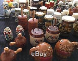 Huge Estate Sale Salt & Pepper Shaker Lot Vintage Unique Cities and States