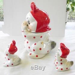 J. D. James Van Tellingen 10 Peek-a-boo Cookie Jar & 5 Salt & Pepper Shakers