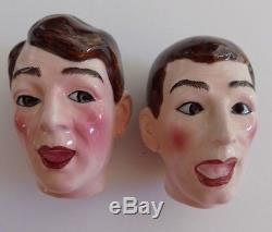 JERRY LEWIS Dean Martin Salt and Pepper Shakers NAPCO HTF Extremely Rare