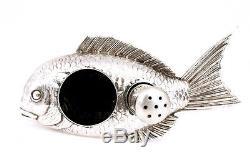 Japanese Sterling Silver Salt & Pepper Fish