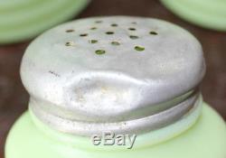 Jeannette Jadeite Beehive Coffee Tea Canisters Salt/Pepper Shakers Jadite C8AX