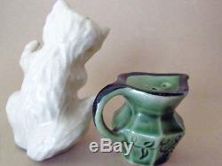 KITTEN AND CREAMER Salt & Pepper Shakers CERAMIC ARTS STUDIO 1953 CUTE
