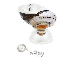 Kaviarschale Perlmutt Muschel 925 Sterlingsilber Salzstreuer Salzschale Gefäß