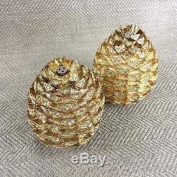 L'Objet Pine Cone Salt & Pepper Shakers Spice Jewels Swarovski Crystals RRP $495