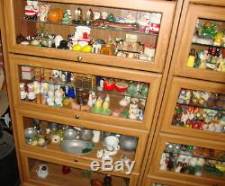 LARGE LOT OF SALT & PEPPER SHAKERS, OVER 1600, With 6 BARRISTER CABINETS