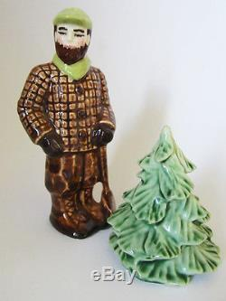 LUMBERJACK PAUL BUNYAN & PINE TREE Salt & Pepper Shakers Ceramic Arts Studio