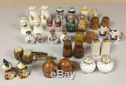 Large Lot of Salt and Pepper Shakers, 135 Sets
