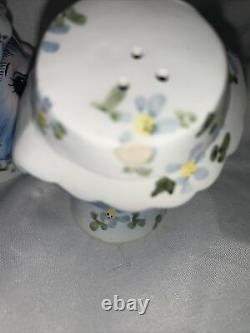 Lefton Miss Priss anthropomorphic salt & pepper, teapot, sugar dish 1950s