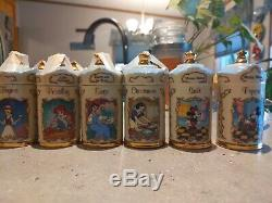 Lenox Walt Disney Spice Jar Collection With Salt And Pepper Shakers 24 pieces