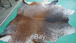 Longhorn Cowhide Rug Size 7.4' X 7.7' Salt & Pepper Cowhide Rug M-263