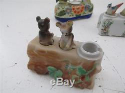Lot of 4 Vintage Patent TT Nodder Salt & Pepper Shakers japan