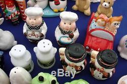 Lot of 50 Vintage to Current Collectable Salt & Pepper Shaker Sets