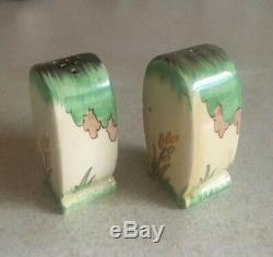 Lovely Clarice Cliff Bonjour Salt And Pepper Shakers
