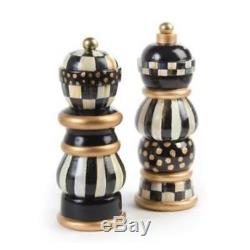 MacKenzie-Childs Courtly Check Salt & Pepper Mill Set 7'