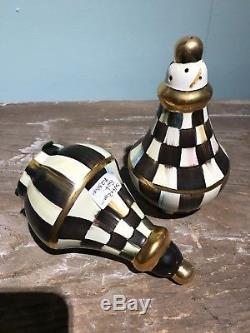 MacKenzie-Childs Courtly Check Salt & Pepper Shaker Set #11465-040 NEW
