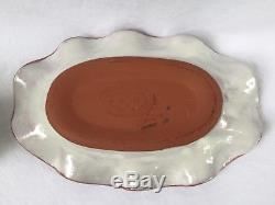 MacKenzie-Childs Madison Salt & Pepper withUnder Plate/Tray Ruffled 2002 Unused