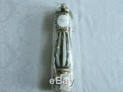 Mackenzie Childs Retired COURTLY CHECK Wood Hand Painted 10 PEPPER MILL m20-j