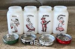 McKee Flemenco Spanish Mexican Dancers Salt Pepper Flour Sugar Range Shaker Set