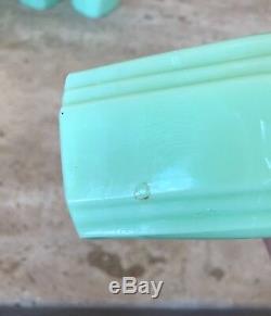 McKee Jadeite Green Roman Arch Shaker Set Salt Pepper Flour & Sugar Jadite