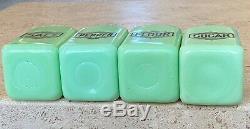 McKee Jadeite Jadite Large Art Deco Box Salt Pepper Flour & Sugar Range Shakers