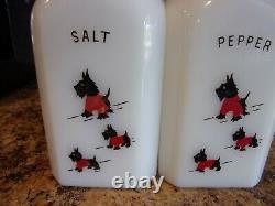 McKee Scotty Dogs in Red Sweaters Salt & Pepper Large Range Shakers Scotties