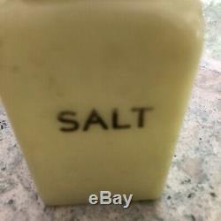 McKee Seville Yellow Salt Pepper Flour & Sugar Range ShakersHoosier Jars H109