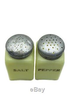 McKee Seville Yellow Salt and Pepper Shakers