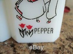 McKee Tipp DUTCH DANCERS Salt & Pepper Range Shakers withCarry Caddy