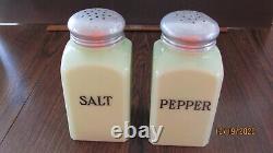 Mckee Jadite Salt & Pepper With Good Lids