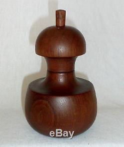 Mid Century DANSK Denmark Quistgaard Teak Apple Core Salt & Peppermill VERY RARE