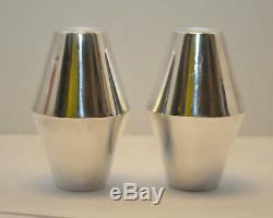 Mid Century Modern Gio Ponti DIAMOND Reed & Barton Sterling Silver Salt & Pepper