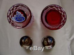 Mintvintagefenton Glassplum(cranberry)opalescenthobnailsalt&peppershakers