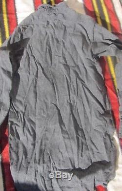 Minty 1940s Vintage Salt & Pepper Denim Chambray Hercules Sanforized Work Shirt