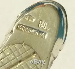 Missiaglia 800 Silver RARE Fish Salt & Pepper Shakers- Fast Shipping