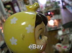 NAPCO Miss Cutie Pie Salt & Pepper shakers Yellow Vintage
