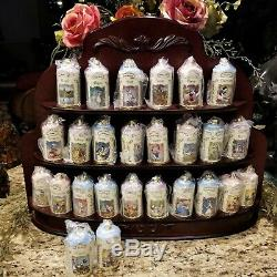 NEW Disney LENOX Porcelain Spice Jar Set Wood Spice Rack Bonus Salt & Pepper COA